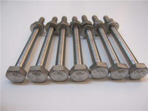 सर्वश्रेष्ठ Qulity हेक्स हेड DIN933 टाइटेनियम बोल्ट GR2 बिक्री के लिए