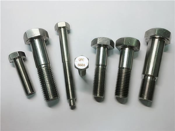 योग्य हेक्स क्याप स्क्रू a453 gr.660 din 1.4980 alloy