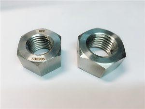 न। D76 डुप्लेक्स २२०5 F53 १.4410१० S32750 स्टेनलेस स्टील फास्टनर्स भारी हेक्स नट