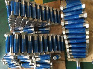 SUS 304L EN1.4306 एसएस फास्टनर हेक्स बोल्ट ISO4014 आधा थ्रेड