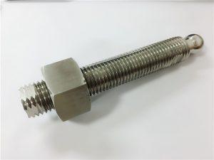 अनुकूलित उच्च गुणवत्ता सीएनसी लेथ टर्निंग टाइटेनियम बल स्टड फास्टनरों