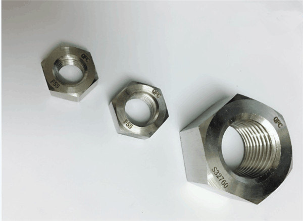 डुप्लेक्स 2205 / f55 / 1.4501 / s32760 स्टेनलेस स्टील फास्टनर्स भारी हेक्स नट m20
