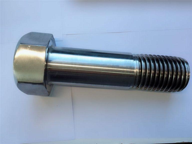 सुपर डुप्लेक्स स्टेनलेस स्टील din931 आधा थ्रेडेड हेक्स बोल्ट